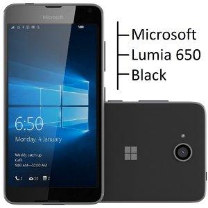 microsoft lumia 650 black 3d model