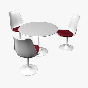 3d tulip chair table