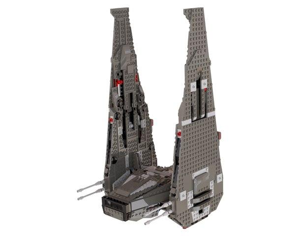lego command shuttle 3d model