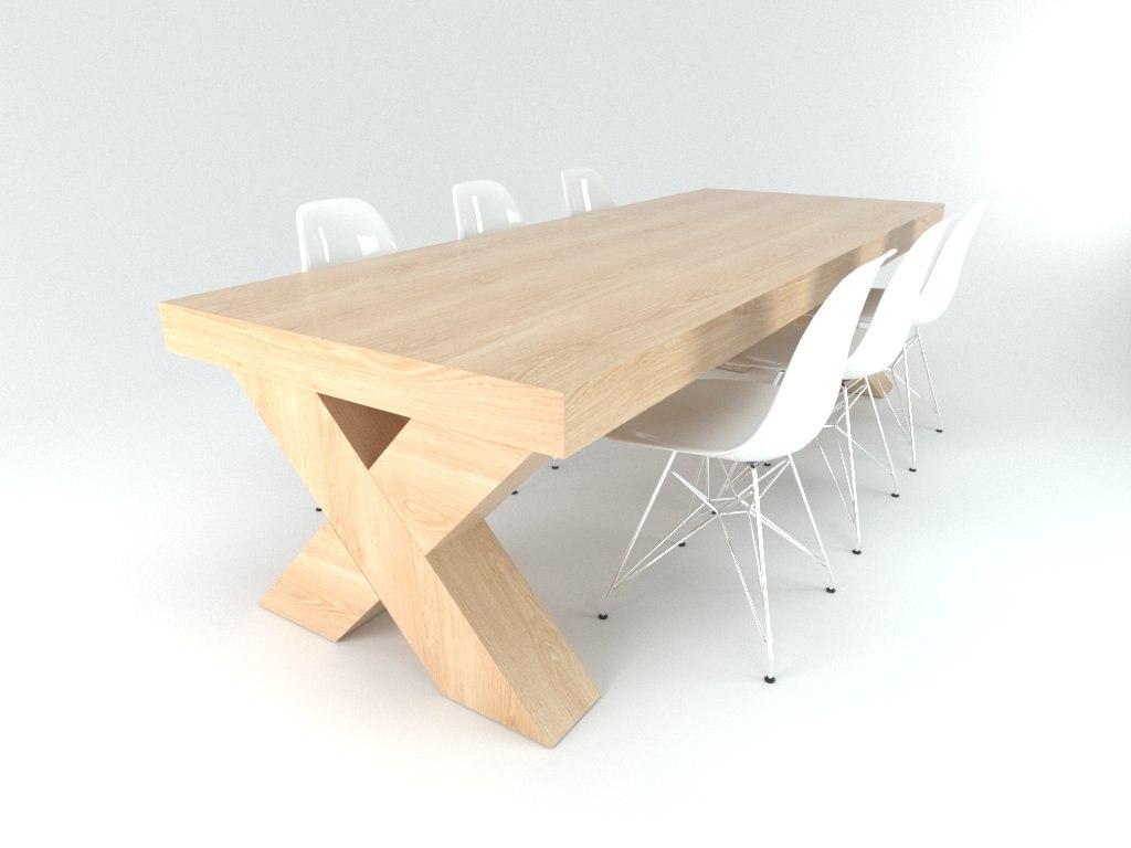 3d dining table set model