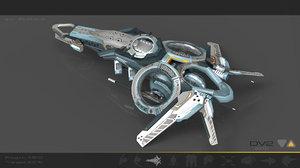 3d drone spaceship