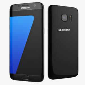 3d flagship smartphone samsung galaxy model