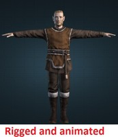 Male Elf Rigged and animated