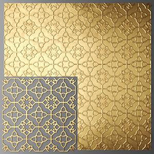 lattice arab panel 3d model