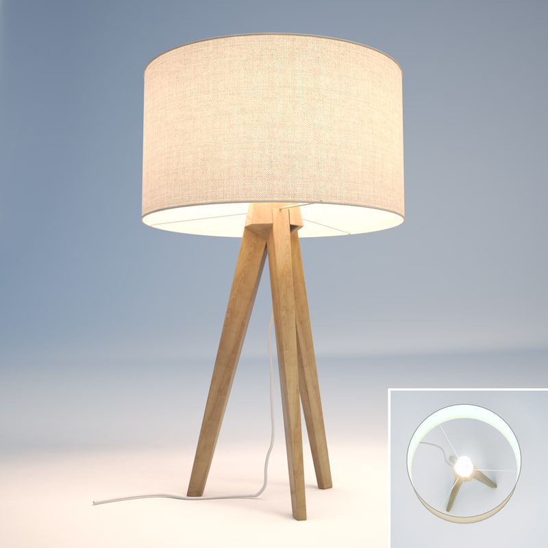 3d model tripod ash table