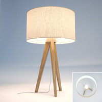 Tripod ash table lamp