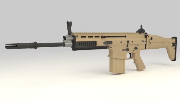 3d model fn scar-h assault rifle