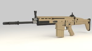 3d model fn scar-h assault rifle