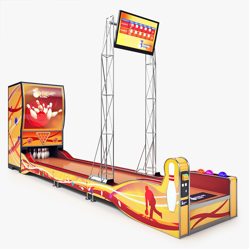 obj bowling arcade machine