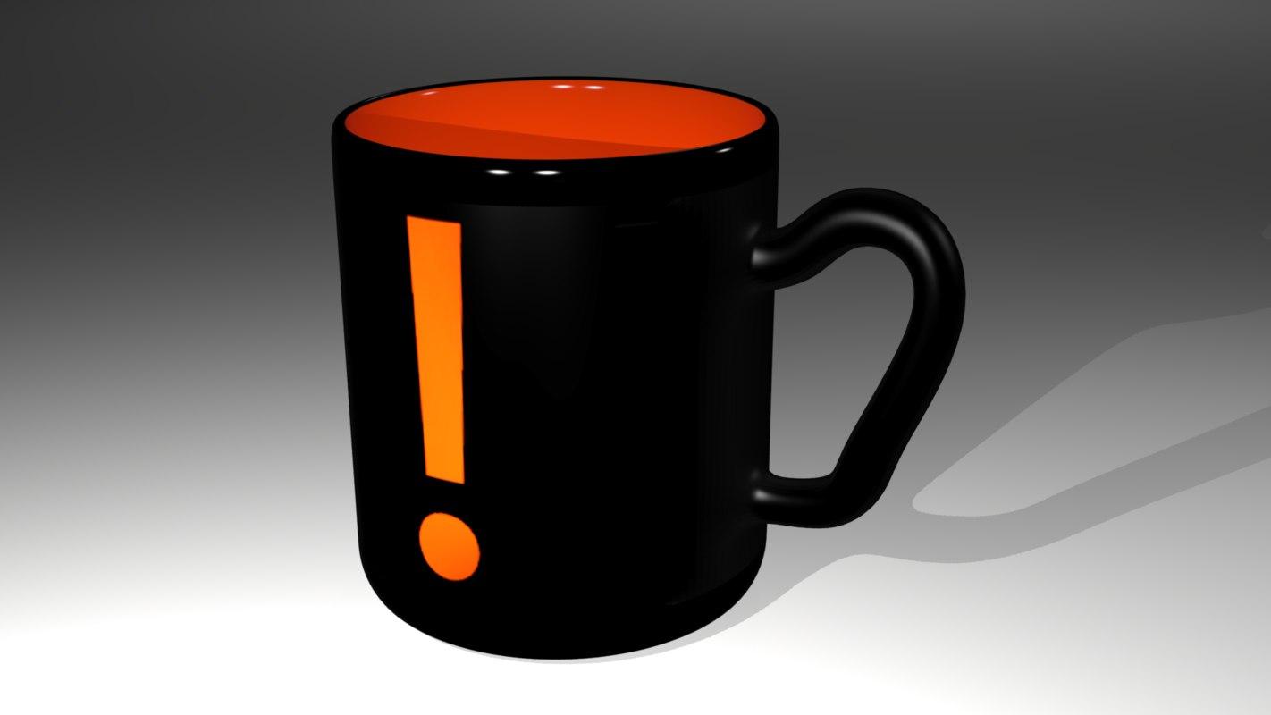 3d max mug caution