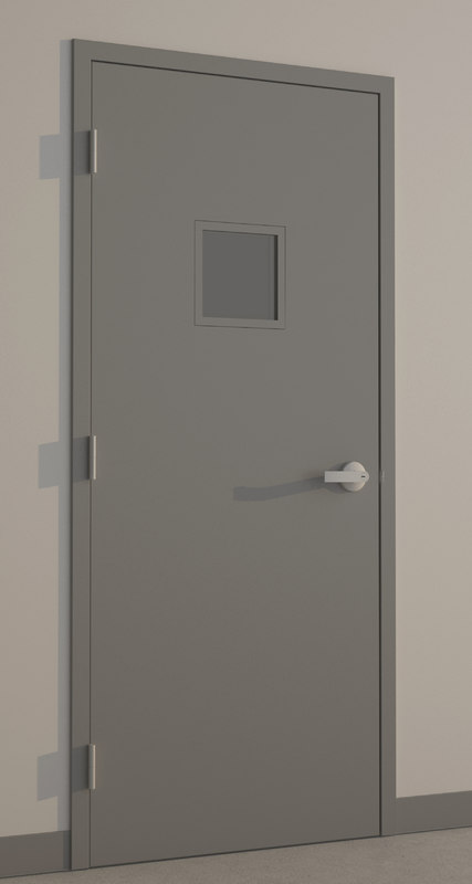 hollow metal door 3d model