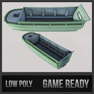 3d landing boat transport model