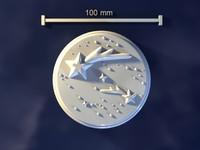 3d starry sky model