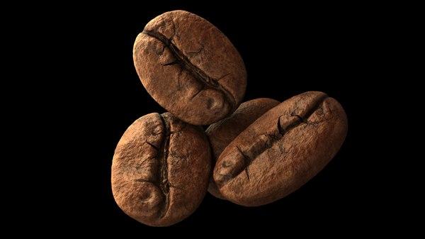 3d model coffee bean