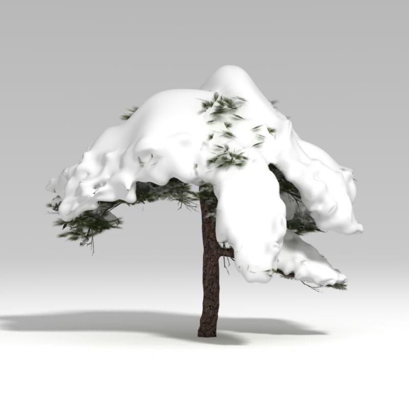 3d model snowtree tree snow