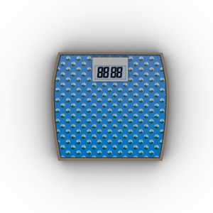 weighing machine blue obj