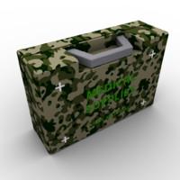 3d model army medikit