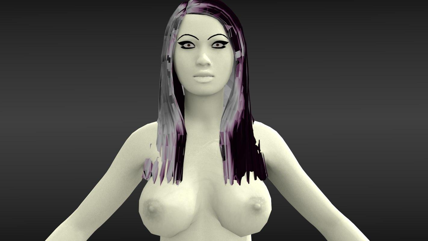 female nude 3d model
