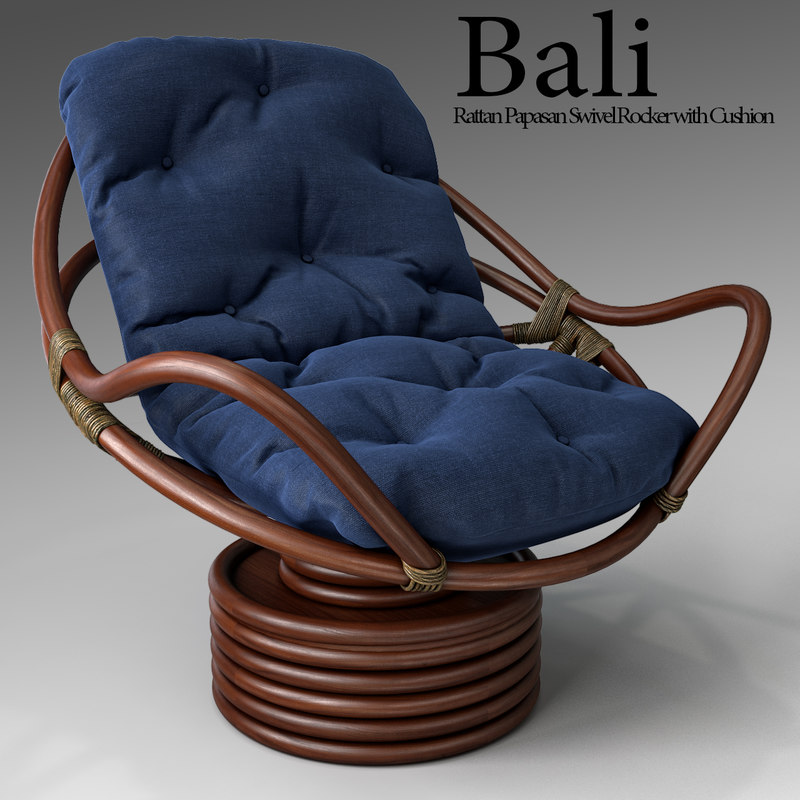 bali rattan papasan swivel 3ds