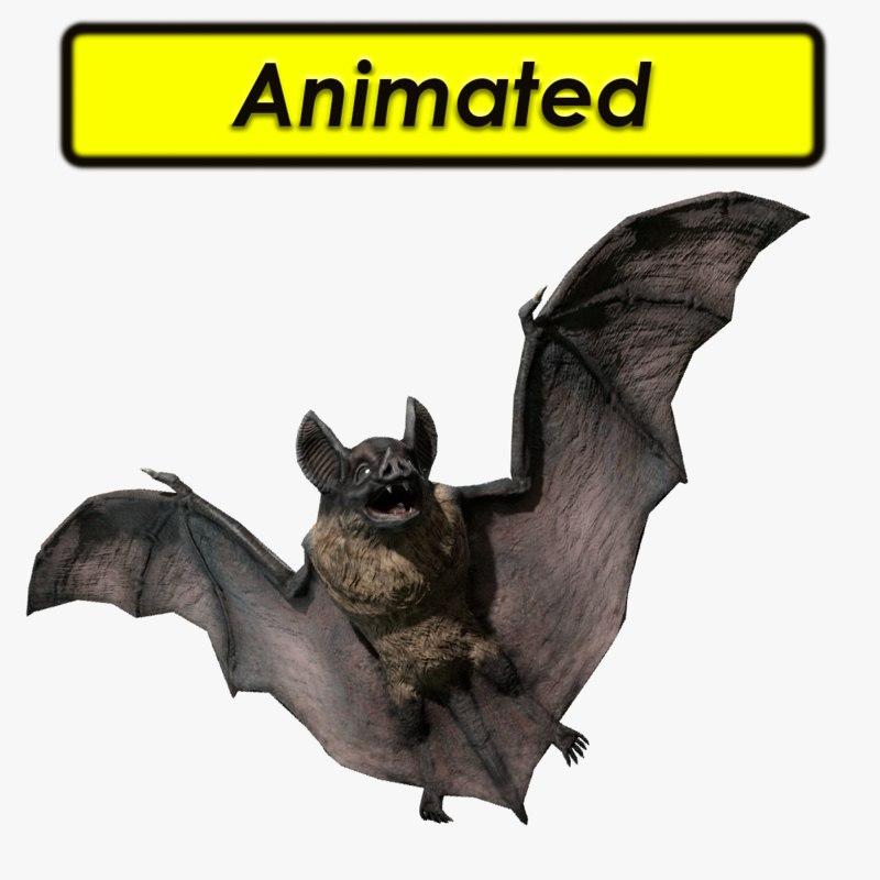 3d model vampire dark bat
