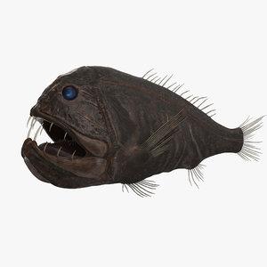 fangtooth fish dark 3d obj