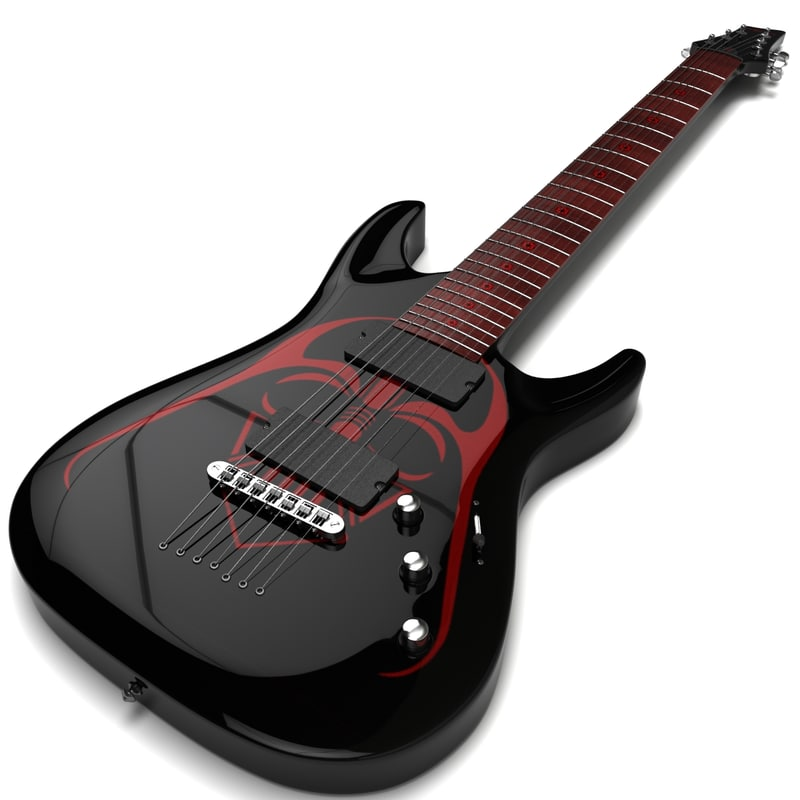 schecter electric guitar 3ds