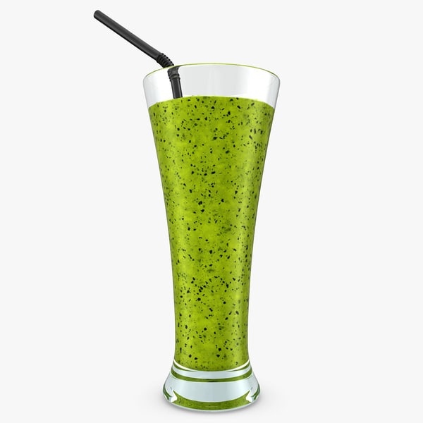 3d model realistic smoothie kiwi