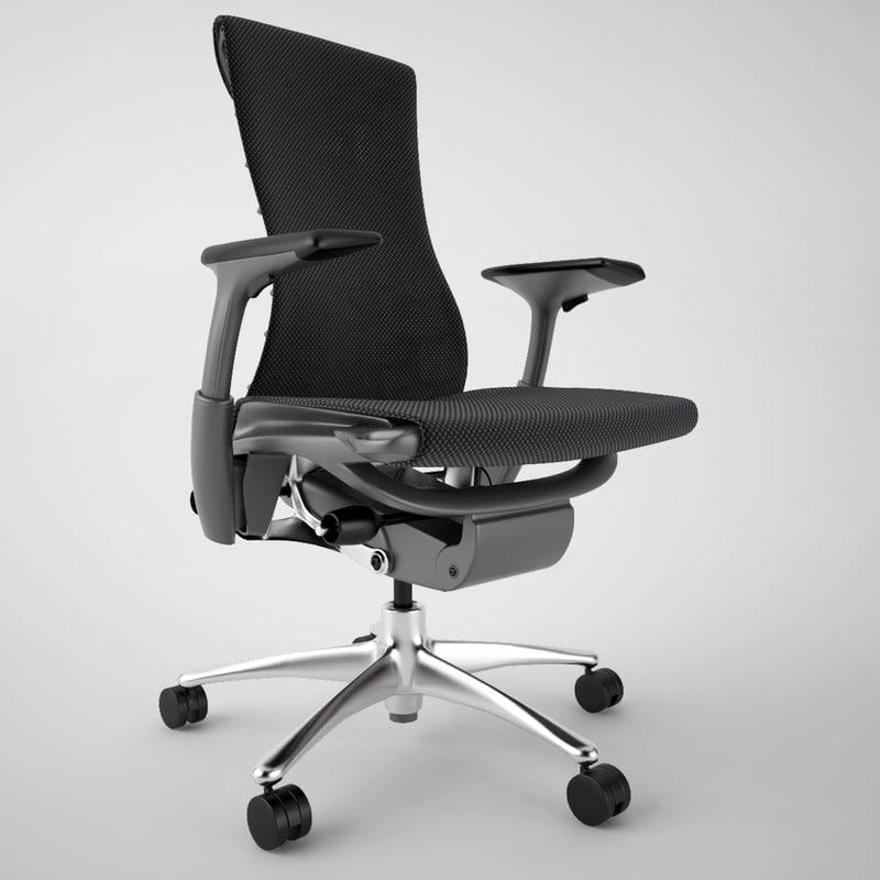 3d model herman miller embody office chair