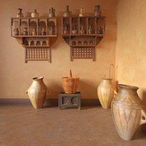 3d model oriental jugs