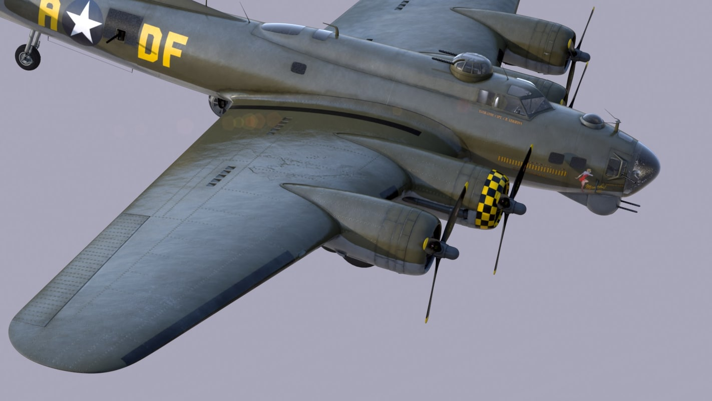 3d bomber b-17 fortress