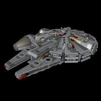 free lego star wars 75105 3d model