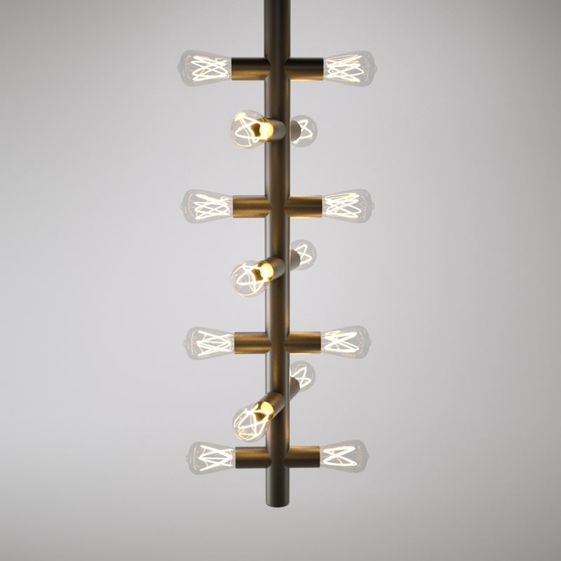 lamp filament bulbs 3d model