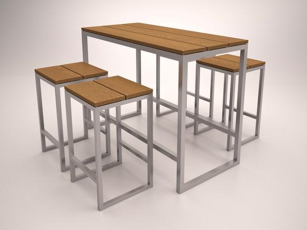 3d furniture bar model