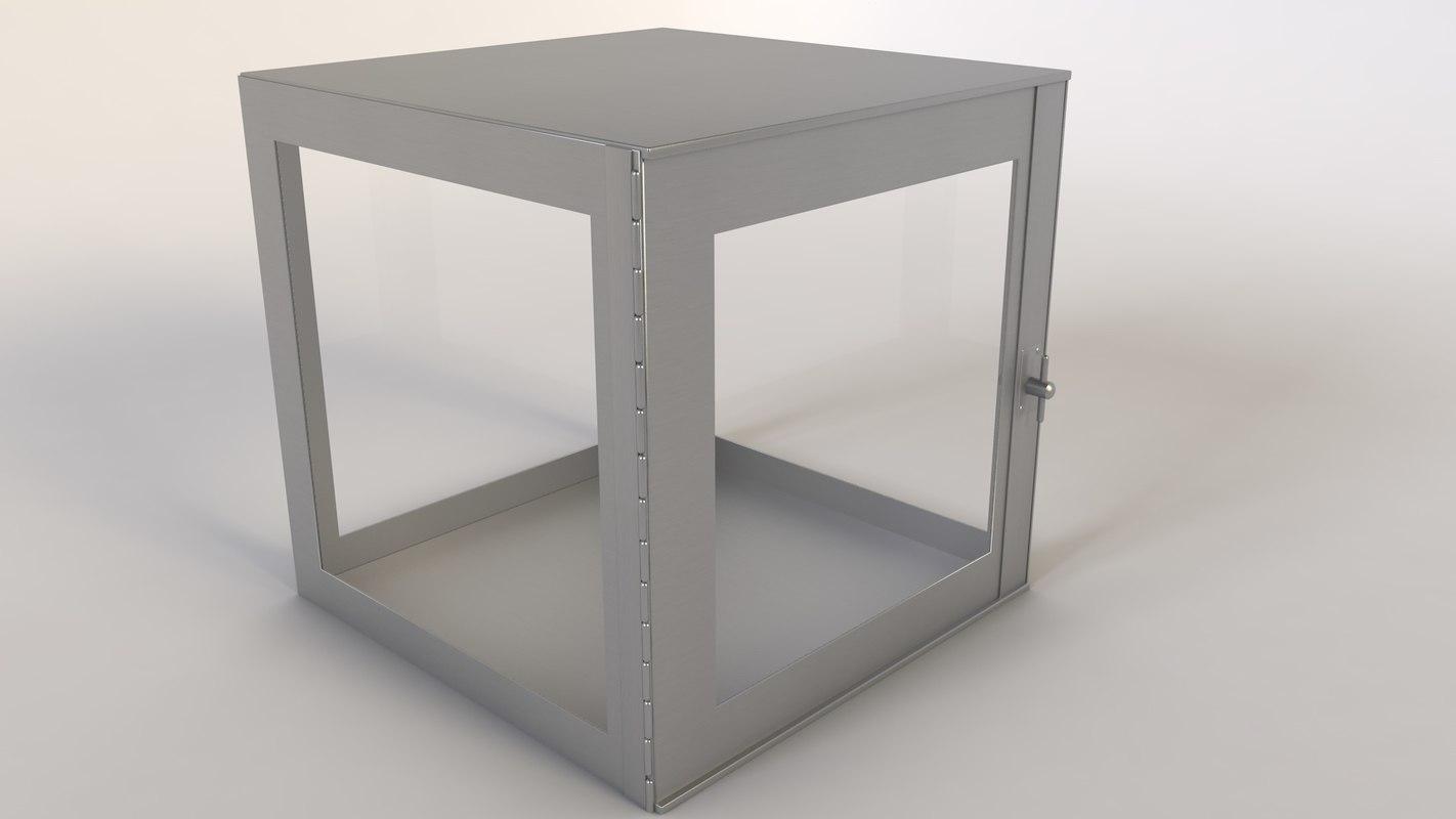 3d model coffre metal