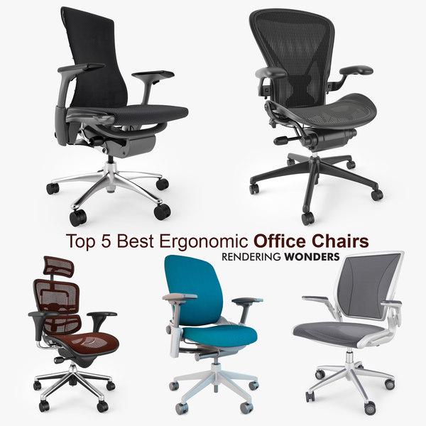 5 best ergonomic office chairs 3d max