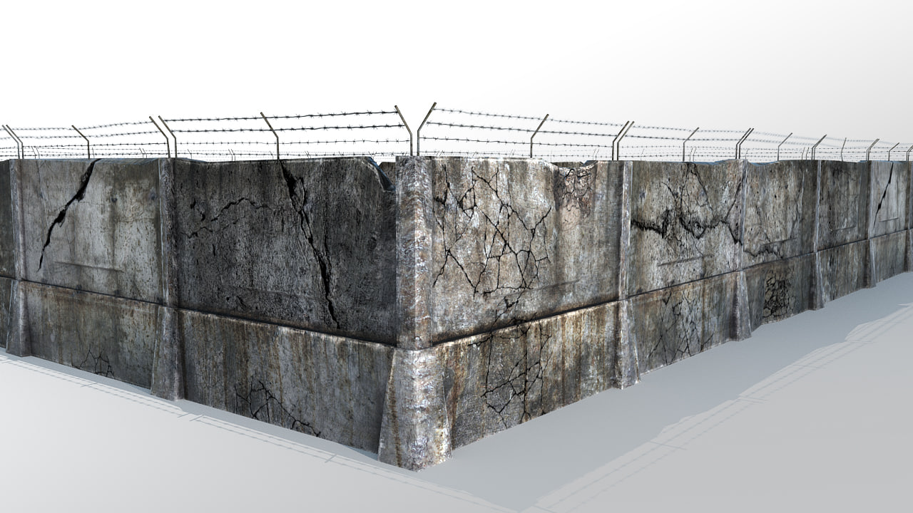 3d model fence barbed wire for 3d fence