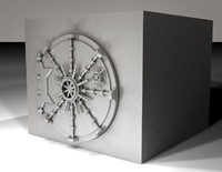bank vault 3d dxf