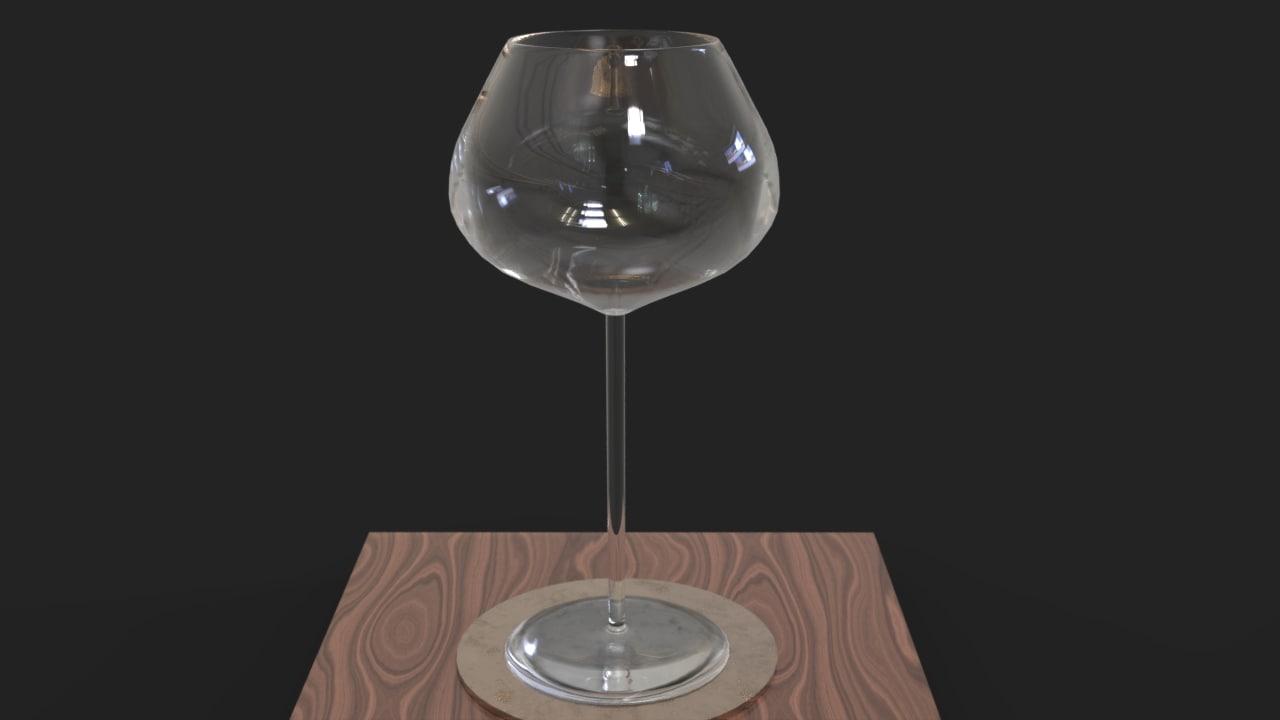 3d model wine glass