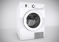 3d realistic washing machine