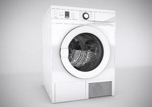 3d realistic washing machine