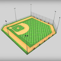 3ds baseball stadium