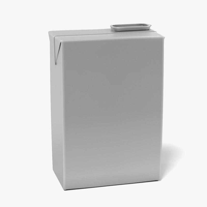 3d model drink box