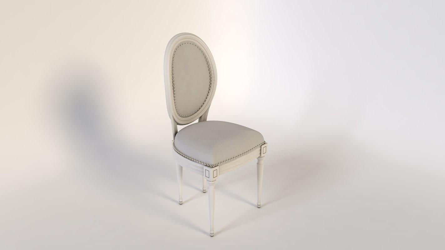 3d chair louis 16 model