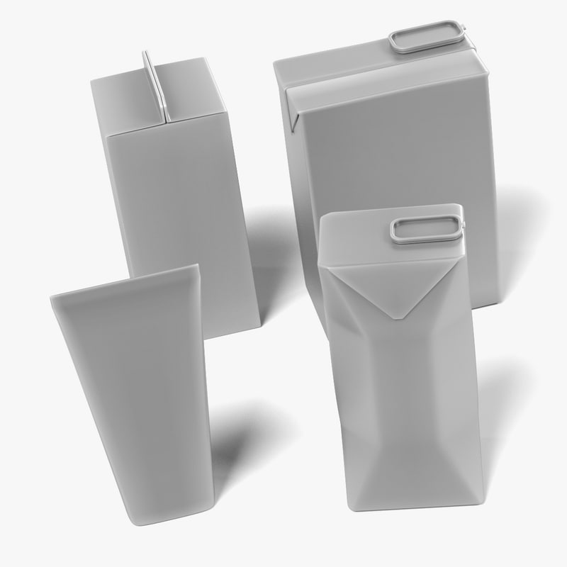 drink boxes 3d model