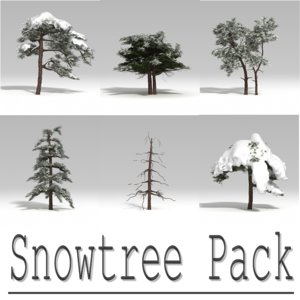 3d snowtree tree snow model