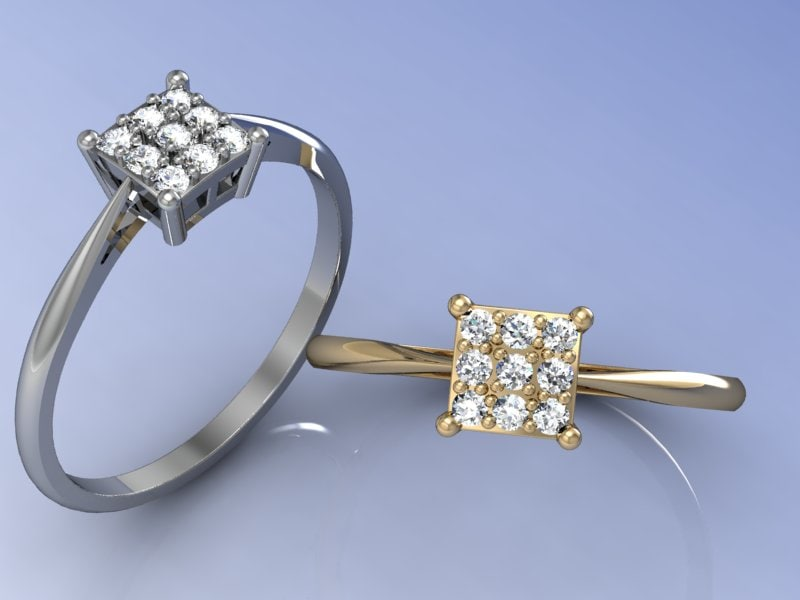 3d model engagement rings