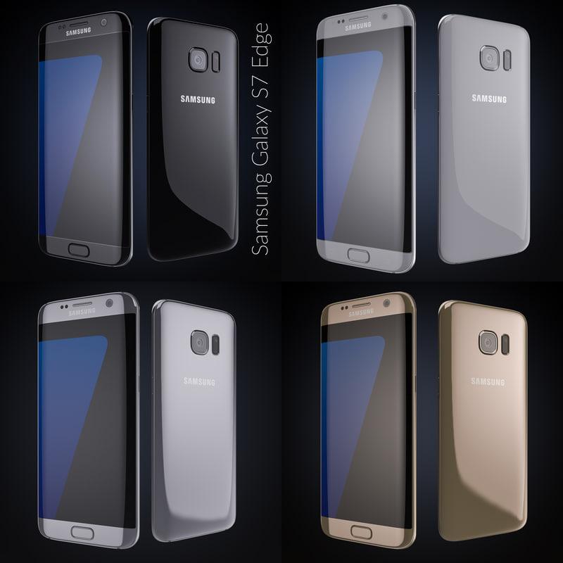 flagship samsung galaxy s7 3d model