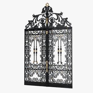 cast iron gate 3d max