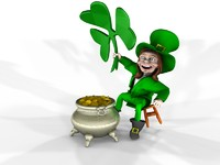 3d model leprechaun shamrock