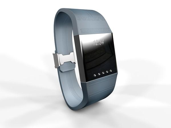 3d model of generic smart watch